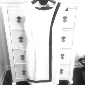 Calvin Klein White/Black dress size 2